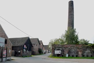 one of the remaining Rupel chimneys