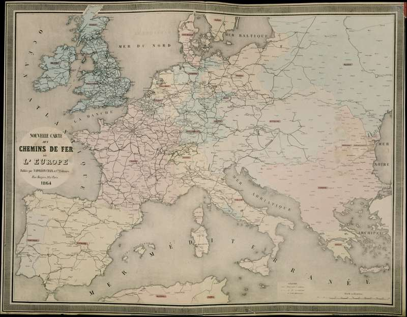 European railways, 1864