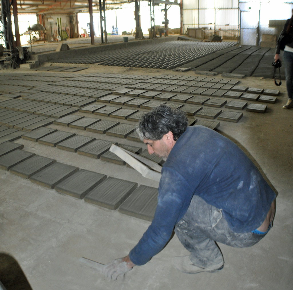 making rooftiles in Umbria